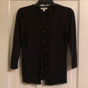 new york & company dark gray cardigan